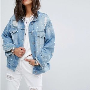 Free People Pearl Denim Jacket